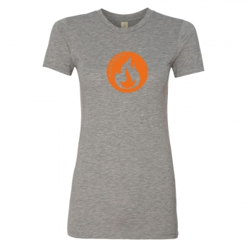 Alternative Apparel Womens Basic Crew - Flame